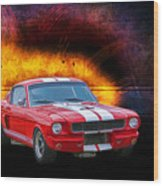 Red 1966 Mustang Fastback Wood Print