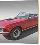 Red 1970 Mach 1 Mustang 351 Cleveland Wood Print