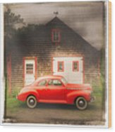 Red 41 Coupe Wood Print