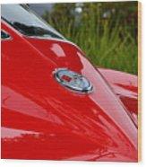 Red 63 Vette Wood Print