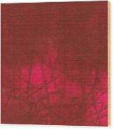 Red Abstract Shapes Wood Print
