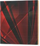 Red Abstractum Wood Print