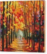Red Alley Wood Print