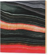 Red And Black Art - Fire Lines - Sharon Cummings Wood Print