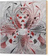 Red And Black -f E- Wood Print