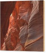 Red And Brown Swirling Sandstone Wood Print
