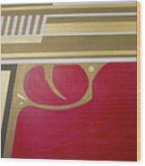 Red And Gold Gun  Wood Print