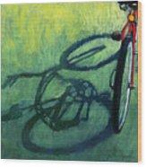 Red And Green - Bike Art Wood Print by Linda Apple
