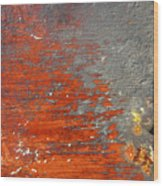 Red And Grey Abstract Wood Print