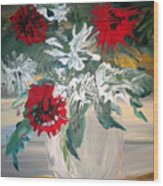 Red And White Flowers By Ralph Wood Print