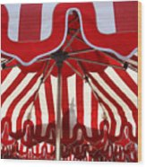 Red And White Wood Print