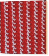 Red And White Knit Wood Print