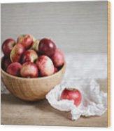 Red Apples Still Life Wood Print