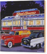 Red Arrow Diner Wood Print