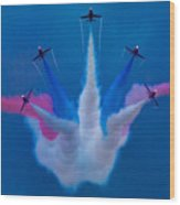 Red Arrows At Airbourne 2010 Wood Print
