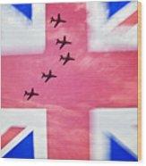 Red Arrows Flag Wood Print