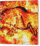 Red Auroch Wood Print
