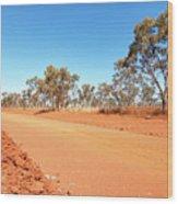 Red Australia Wood Print