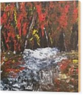 Red Autumn Brilliance Wood Print