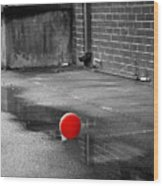 Red Balloon I Wood Print