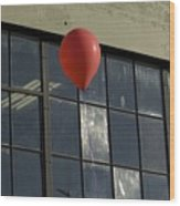 Red Balloon Wood Print