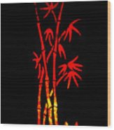 Red Bamboo Wood Print
