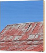 Red Barn And Blue Sky- Fine Art Wood Print