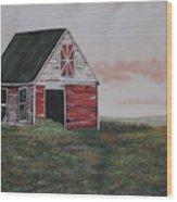 Red Barn Wood Print