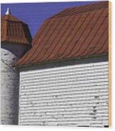Red Barn Close Up Wood Print