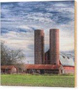 Red Barn II Wood Print