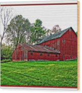 Red Barn In Ohio Wood Print