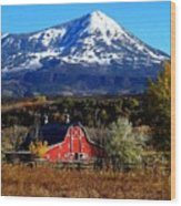 Red Barn In Paonia Colorado Wood Print