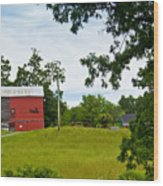 Red Barn In Upper  New York State. Wood Print