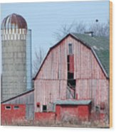 Red Barn On Texas Avenue Wood Print