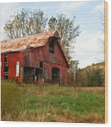 Red Barn Putnum County Wood Print