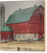 Red Barn11 Wood Print