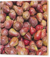 Red Bartlett Pears Wood Print