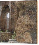 Red Basilica Scene 5 Wood Print