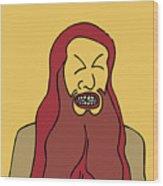 Red Bearded Man Wood Print