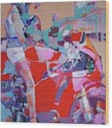 Red Bike Wood Print
