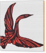 Red Bird Wood Print