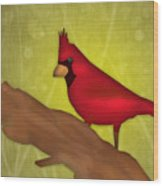 Red Bird Wood Print by Melisa Meyers