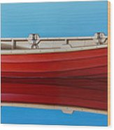 Red Boat Wood Print by Horacio Cardozo