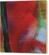 Red Boudoir Wood Print