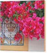 Red Bougainvilleas Wood Print