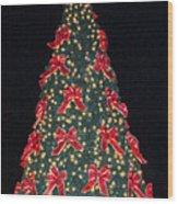 Red Bow Tree Wood Print