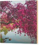 Red Bower Wood Print