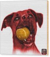 Red Boxer Mix Dog Art - 8173 - Wb Wood Print
