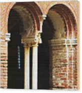 Red Brick Archway Soft Wood Print