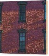 Red Brick Building Nyc Wood Print